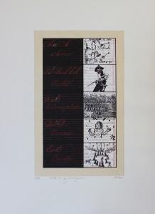 Lynne Allen, ABC's of Civilization!, lithograph, chin colle', 2003