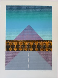 Joe Feddersen, Barrier, screenprint, 2003