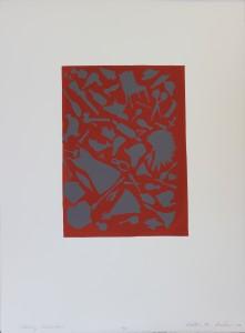 Kirsten Furlong, Collecting Identities, screenprint, 2003