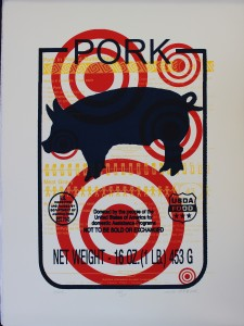 John Hichcock, Pork, screenprint, 2003