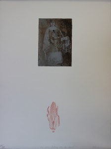 Elizabeth Klimek, Are You Calling Me an Apple?, lithograph, etching, relief, 2003