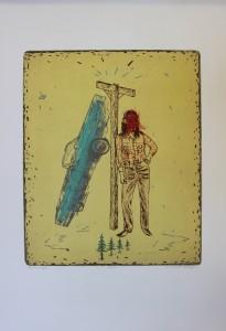 Michael Krueger, Pine Ridge 89, lithograph, etching, 2003