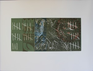 Maria Lee, Who's Keeping Tally?, relief, etching, 2003