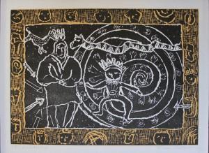Florence Putterman, Huckle Hoke II, relief, 2003